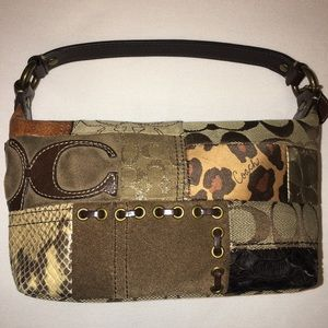 Coach mini patchwork handbag.